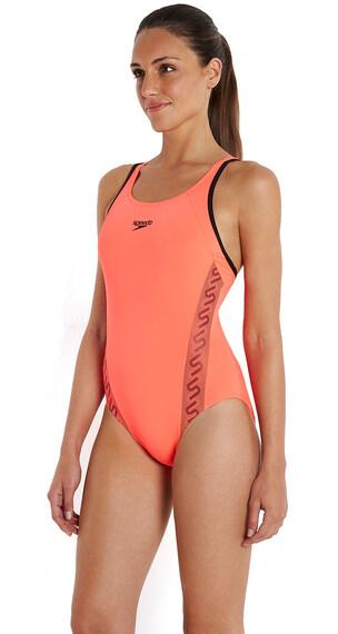 speedo Endurance+ Monogram Svømmedragt Damer rød